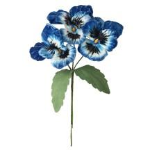 Spray of Large Blue and White Velvet Pansies ~ Czech Republic