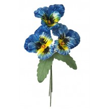 Spray of Large Blue and Yellow Velvet Pansies ~ Czech Republic
