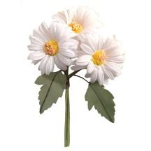 White Fabric Daisy Bouquet ~ Czech Republic