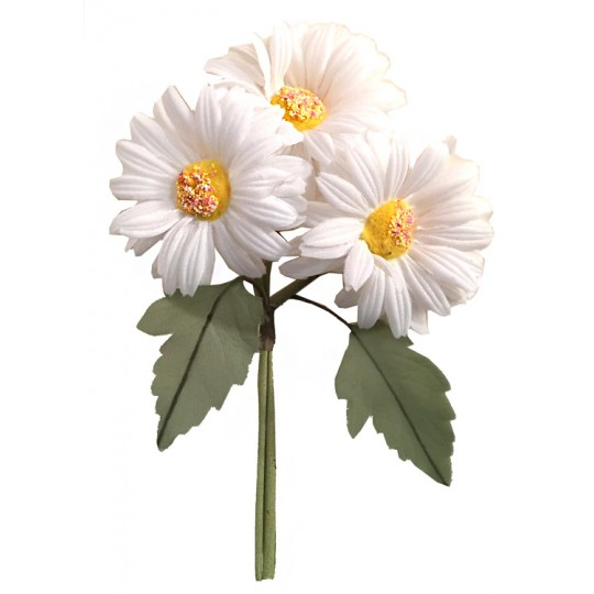 White Fabric Daisy Bouquet ~ Czech Republic