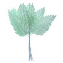 Bundle of Sea Foam Green Satin Leaves