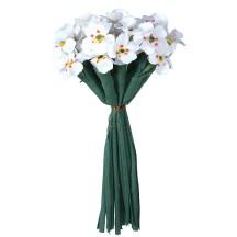 Bundle of Small White Fabric Millinery Flowers ~ Vintage Korea