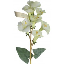 Spray of Pale Yellow Fabric Morning Glory Blossoms ~ Vintage Germany