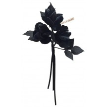 Cluster of Black Velvet & Fabric Roses ~ Vintage Japan