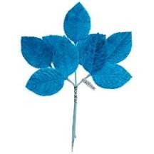 Sprig of Turquoise Velvet Rose Leaves ~ Vintage Japan