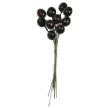 "10 Glossy Dark Brown Olives ~ 1/2"" ~ Czech Republic"