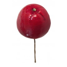 """1 Jumbo Red Lacquered Apple ~ 2-1/2"""" ~ Czech Republic"""