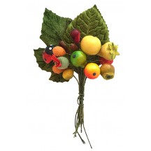 Mixed Bundle of Lacquered Fruit + Velvet Leaves