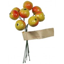 """8 Vintage Yellow Ombre Lacquered Apples ~ 3/4"""""""