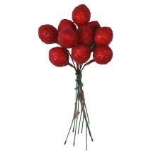 """10 Vintage Composition Dark Red Strawberries ~ 5/8"""""""