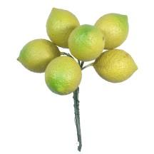 "6 Large Vintage Composition Lemons ~ 1-3/4"""
