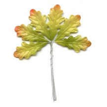 Set of 6 Petite Paper Autumn Ombre Oak Leaves ~ Czech Repub.