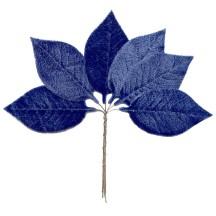 Set of 6 Blue Velvet Leaves ~ Czech Repub.