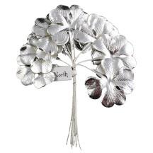 Set of 8 Silver Foil Paper Shamrocks ~ Clover Leaves ~ Czech Repub.