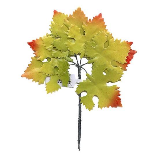 Set of 8 Paper Autumn Ombre Maple Leaves ~ Czech Repub.
