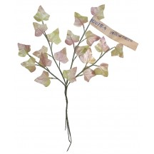 Sprig of Pale Green and Pink Pearlized Ivy Leaves ~ Vintage Germany