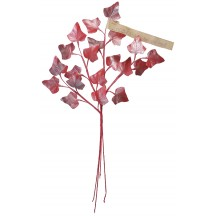 Sprig of Red Pearlized Ivy Leaves ~ Vintage Germany