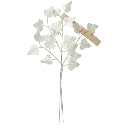 Sprig of Off White Pearlized Ivy Leaves ~ Vintage Germany