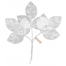 Sprig of White Velvet Rose Leaves ~ Vintage Japan