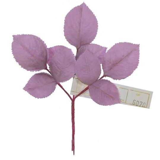 Sprig of Lavender Ombre 2 Layer Rose Leaves ~ Vintage Germany