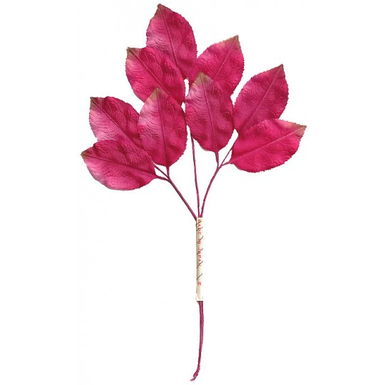Spray of Pink Ombre Leaves with Brown Tips ~ Vintage Japan