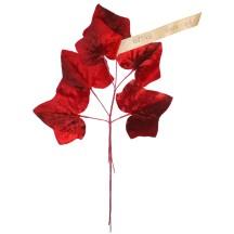 Spray of Large Dark Red Velvet Ivy Leaves ~ Vintage Germany