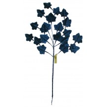 Spray of Petite Navy Velvet Ivy Leaves ~ Vintage Japan