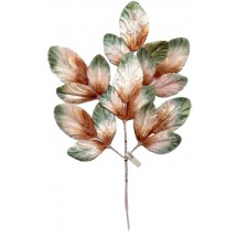 Spray of Brown and Green Ombre Velvet Leaves ~ Vintage Japan