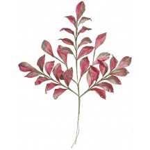 Spray of Pink and Beige Shaded Satin Olive Leaves ~ Vintage Japan