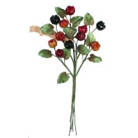 Spray of Vintage Mixed Glass Fruit with Leaves ~ Vintage Germany