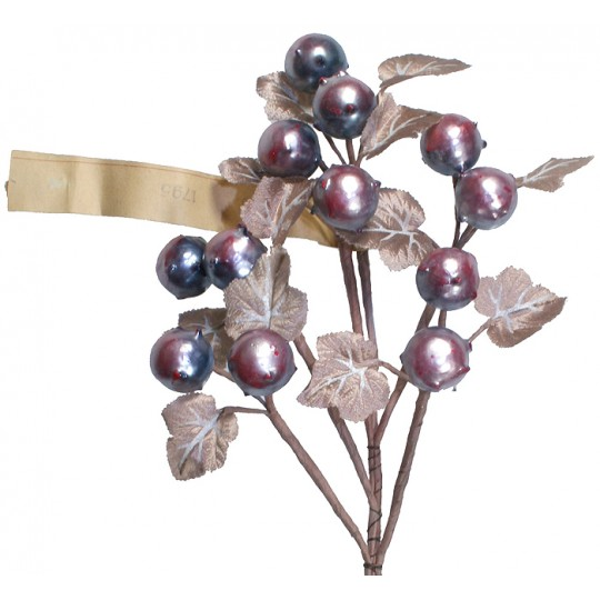 Spray of Pearlized Chestnuts with Handpainted Beige Leaves ~ Vintage Germany