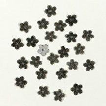"24 Velvet Forget Me Not Flowers Millinery Flower Making Or Scrapbooking ~ Smoke Gray ~ 3/8"" across"