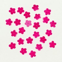 "24 Velvet Forget Me Not Flowers Millinery Flower Making Or Scrapbooking ~ Fuchsia Pink ~ 3/8"" across"