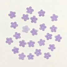 "24 Velvet Forget Me Not Flowers Millinery Flower Making Or Scrapbooking ~ Lavender ~ 3/8"" across"