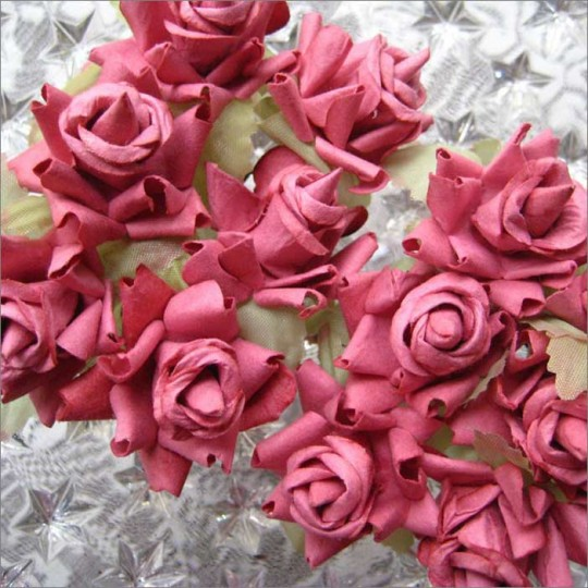 12 Dusty Rose Dainty Rose Paper Flowers