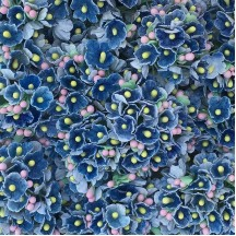 1 Bouquet of Paper Forget Me Nots in Denim Blue