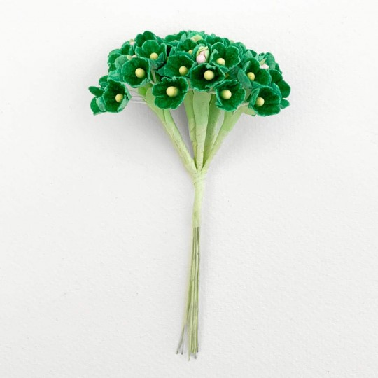 1 Bouquet of Paper Forget Me Nots in Green