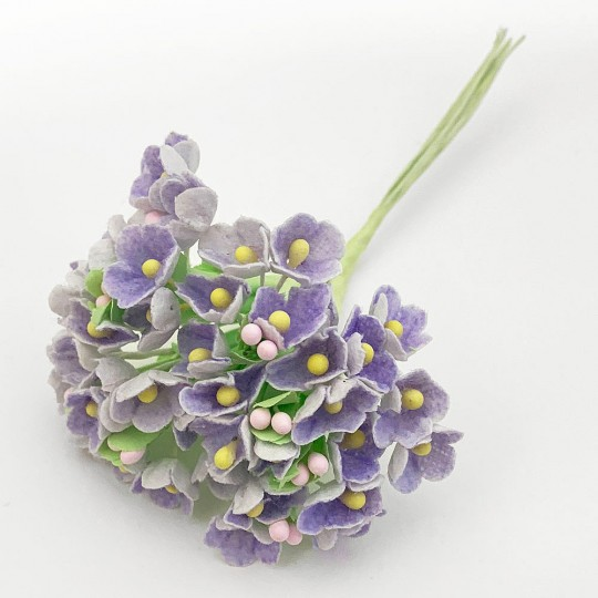1 Bouquet of Paper Forget Me Nots in Light Purple