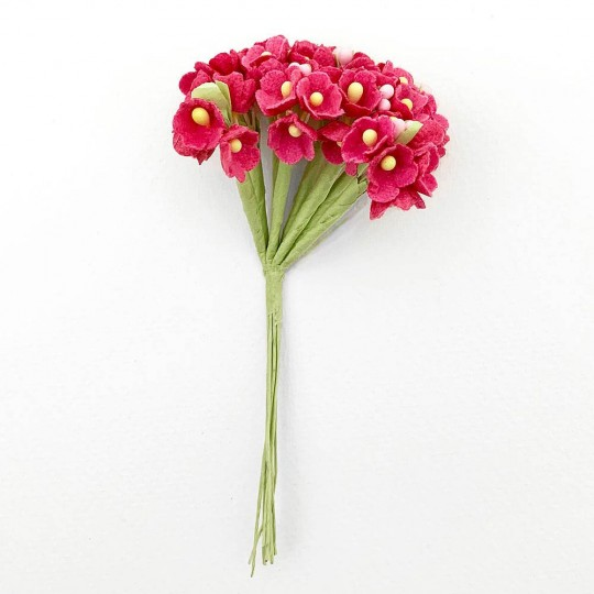 1 Bouquet of Paper Forget Me Nots in Medium Rose Pink
