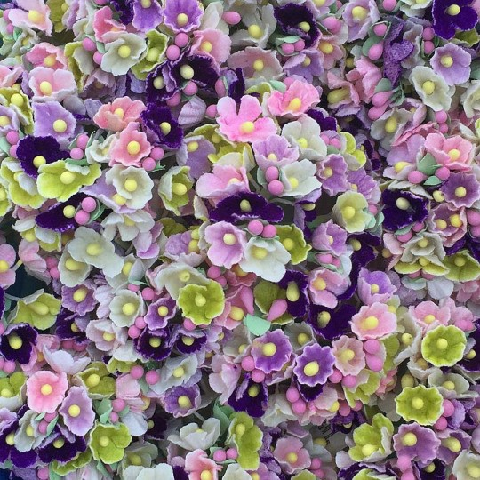 1 Bouquet of Paper Forget Me Nots in Garden Mix
