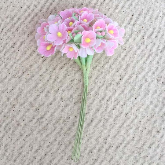 1 Bouquet of Paper Forget Me Nots in Light Pink