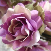 12 Purple Mix Open Rose Paper Flowers