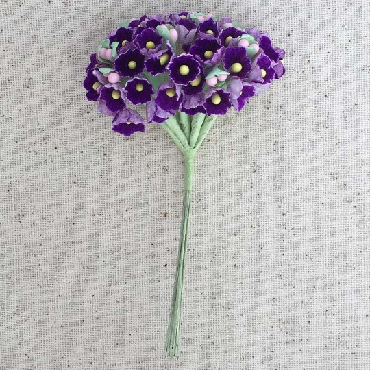1 Bouquet of Paper Forget Me Nots in Royal Purple