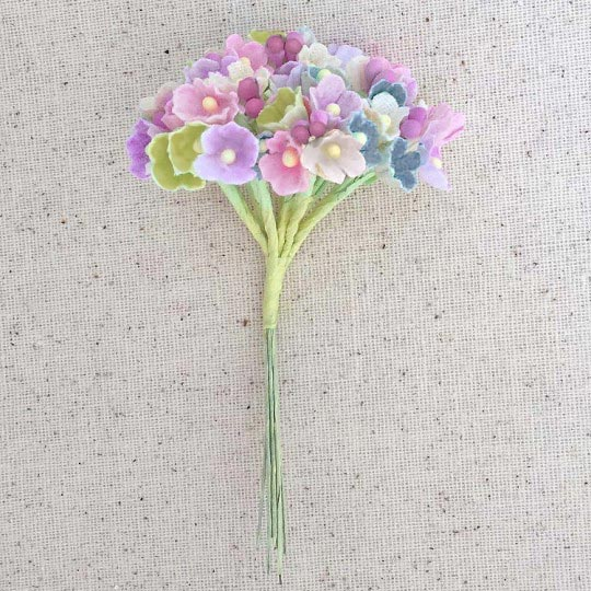 1 Bouquet of Paper Forget Me Nots in Spring Mix