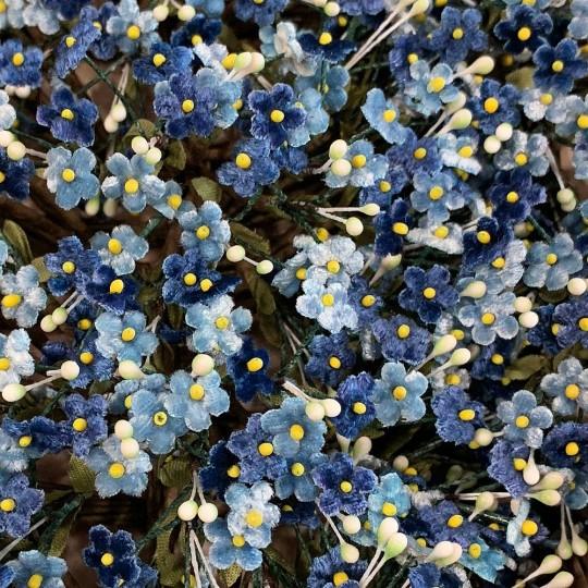 Mixed Bundle of Petite Velvet Forget me Nots ~ Czech Republic ~ BLUE + NAVY MIX