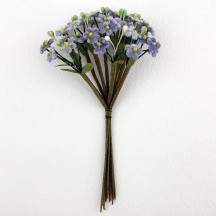 Bundle of Petite Velvet Forget me Nots ~ Czech Republic ~ BLUE