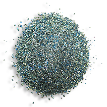 1 oz German Glass Glitter in Blue Sky ~ Fine Grit