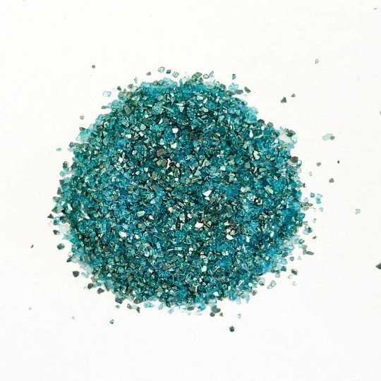German Glass Glitter in Aqua Blue ~ Medium Grit ~ 2 oz in Jar