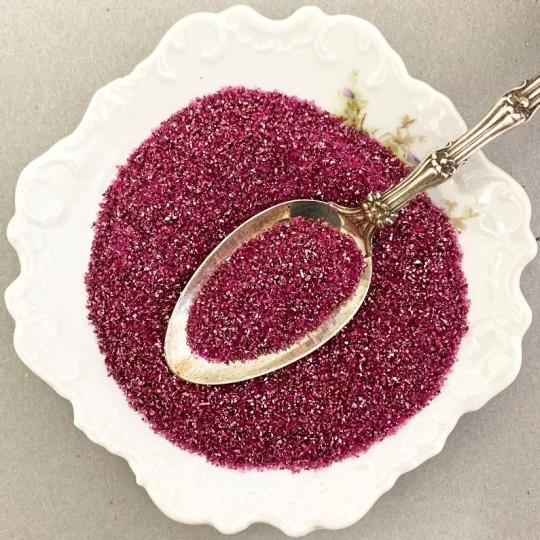 German Glass Glitter in Berry Pink ~ Medium Grit ~ 2 oz in Jar