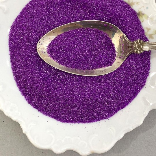 German Glass Glitter in Bright Purple ~ Fine Grit ~ 2 oz in Jar